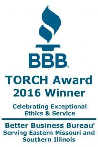 Tami R Benus CPA 2016 BBB TORCH Award Winner Logo Better Business Bureau Columbia MO Accountant